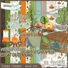 Designer Spotlight & Daily Download 1/20/16 by Jen Dipzinski Happy Campers Mini Kit