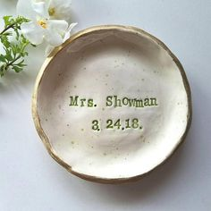 Wedding Favors, Wedding Gifts, Engagement Favors, Ring Dish, Clay Crafts, Little Gifts, Ceramic Pottery, My Etsy Shop, Dishes