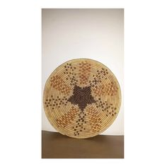 Vintage Hand Woven Coil Wall Basket,Woven Coil Bowl Basket, Boho, Boho Wall Basket, Woven Star Design Basket, Large,13.5 Diameter,Rust,Brown by JunkYardBlonde on Etsy
