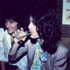 Jimmy Page and Ron Wood