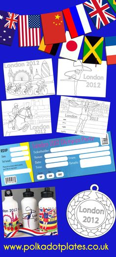 Free London 2012 Olympics colouring & party kit...