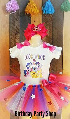 MY LITTLE PONY BIRTHDAY PARTY PRINCESS OUTFIT TSHIRT TUTU HAIRBOW https://www.etsy.com/listing/525343074/my-little-pony-theme-birthday-outfit