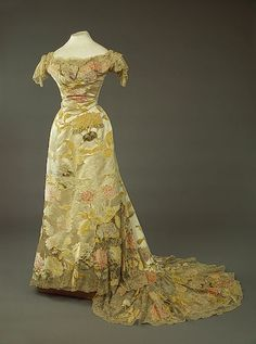 House of Worth, Evening Gown Worn by Zinaida Yusupova. (Detail View of Train) Paris, 1900.