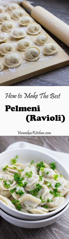 Pelmeni are Russian style ravioli. That is a must dish on any Russian holiday table.