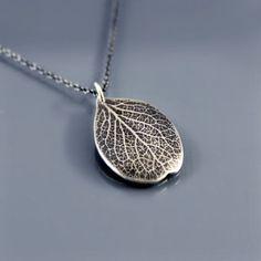 Sterling Silver Petal Necklace by Lisa Hopkins Design