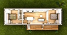 12 Ideas container house plans for 2 bedroom 40 foot container home. Nice but I would shift . 12 Ideas container house plans for 2 bedroom 40 foot container home. Nice but I would shift . Prefab Container Homes, Shipping Container Home Designs, Building A Container Home, Container Buildings, Container Architecture, Shipping Containers, House Architecture, Shipping Container Cabin, Small House Plans