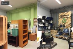 Heidi Risku - Jupiter recycle store new style: Before and after