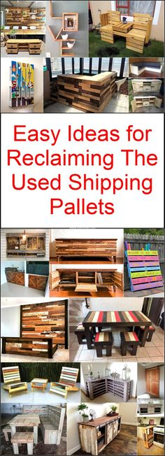 Pallet wood is the material renowned all across world to create amazing furniture and art pieces to adorn your home. This can be easily attained through shipping sites. industrial areas and highways. Pallet Crates, Wooden Pallet Furniture, Wooden Pallets, Pallet Wood, Used Pallets, Recycled Pallets, Wood Home Decor, Home Decor Items, Diy Pallet Projects