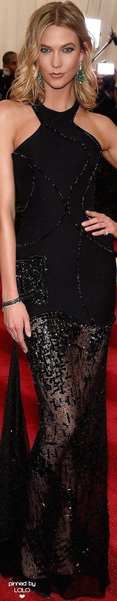 Karlie Kloss in Atelier Versace 2015 Met Gala   LOLO❤