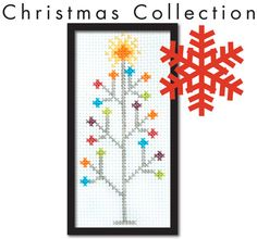 Mod Christmas Tree Easy Cross Stitch Pattern Instant Download