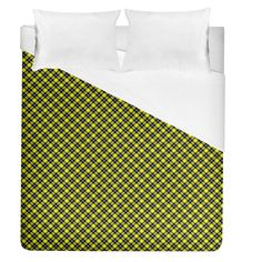 "Cute yellow tartan pattern, classic buffalo plaid theme Duvet Cover (Queen Size) #duvets #bedroom #bedding #home #decor #art Dream even sweeter dreams when you lay your head down to sleep at night under your personalized duvet quilt! With a range of sizes to choose from you can design matching sheets for your whole family. Why not match it with pillow cases and a fitted sheet as well to have a complete set? Bed Size: Queen Size Dimensions: 88"" H x 88"" W Material: Cotton and Polyester blend Funny Sleep, Sleep Room, Tartan Pattern, Room Stuff, Can Design, Bed Sizes, Buffalo Plaid, Queen Size, Bedding Sets"
