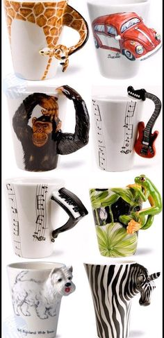 very cool mugs. I got my sister the zebra one and my dad the guitar one.