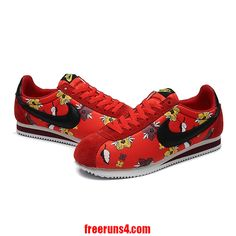 on sale f4c27 8baf2 red Nike Cortez Womens Flowers for half off