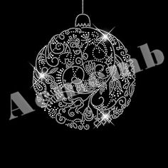 Custom rhinestone transfers wholesale Christmas Crystal Ball 30 pcs