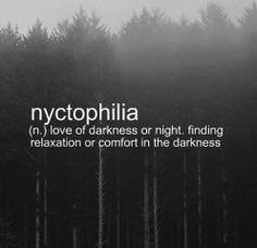 Nyctophilia. Firefox wanted me to change this word to necrophilia, lol.