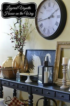 Living Room Changes- Creating a layered Vignette