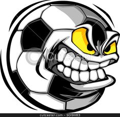 Illustration about Soccer Ball Face Illustration Vector. Illustration of sports, head, logo - 10361798 Window Stickers, Bumper Stickers, Soccer Tattoos, Soccer Images, Skull Stencil, Airbrush T Shirts, Face Illustration, Cartoon Stickers, Creative Logo