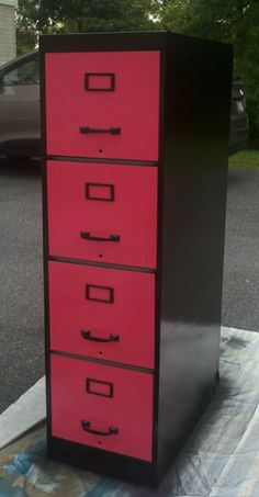 In most classrooms you will find a plain, normally old file cabinet that looks like this: I know I needed one of these i Classroom Design, Classroom Decor, Diy Craft Projects, Home Projects, Apartment Projects, Painted File Cabinets, Filing Cabinets, Storage Cabinets, Furniture Making