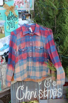 Size 6 Kids Distressed Flannel Shirt / Childs Bleached Flannels / Size 6 Shirt / Long Sleeve Plaid Flannel / Bleached, Grunge Flannels FF95 by GypsyFarmGirl on Etsy