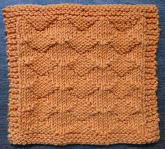 Diamond Lil One-Ounce Dishcloth Free Knitting Pattern. Skill Level: Easy Textured pattern has a different look on the front and back. Free Pattern More Patterns Like This! Knitted Dishcloth Patterns Free, Knitting Squares, Knitted Washcloths, Crochet Dishcloths, Easy Knitting, Knitting Stitches, Knitting Patterns Free, Free Pattern, Knit Patterns