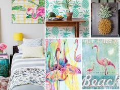 ¡Piñas, flamencos y palmeras que no falten en tu decoración tropical!
