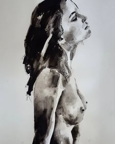 Female portrait/torso study in ink washes on paper #fineart #drawings #illustration #contemporaryart #fashion #portrait #figurestudy #thebody #expressive #creative #inspiration #artoftheday #picoftheday #instaart #artistoninstagram http://ift.tt/2s64wDX