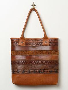 Vintage belt tote bag