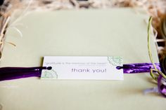 Love the mini thank you tag from moo