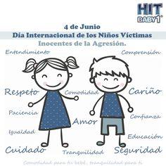 Día Internacional de los Niños Víctimas Inocentes de la Agresión. #niños #niñas #día #4deJunio #protección #seguridad