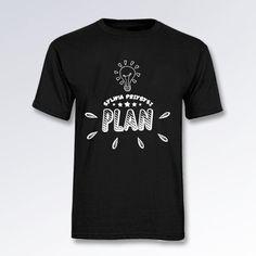 (PREORDER) Koszulka męska czarna PLAN duże logo