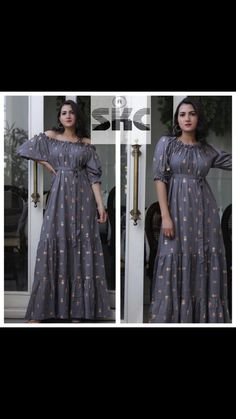 sold by CS VILLE for more contact 9891403364 Off Shoulder Gown, Latest Fashion, Gray Color, Gowns, Grey, Things To Sell, Dresses, Vestidos, Gray