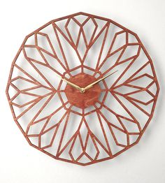 North Star Laser Cut Wood Clock | Home Decor | Sarah Mimo Clocks | Scoutmob Shoppe | Product Detail