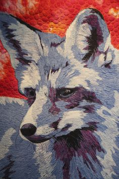 Red Fox, blue fox, by Kate Themel, Cheshire, Connecticut, USA