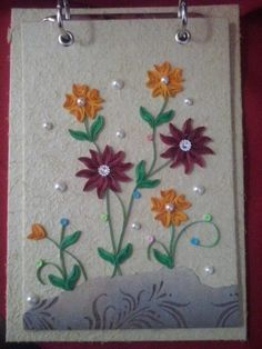 Bloquinho de papel artesanal quilling 4