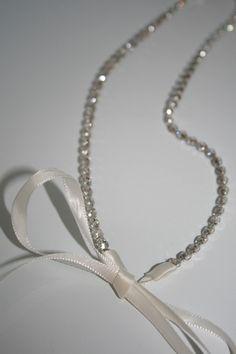 Rhinestone Headband, bridal, wedding headband, bridal headband, bridal headpiece, ribbon, accessories, wedding, hair accessory. $24.95, via Etsy.