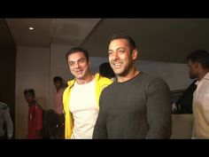 SULTAN Salman Khan with brother Sohail Khan at The Jungle Book movie screening.