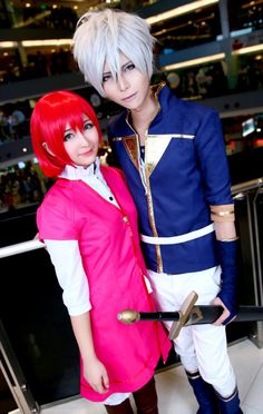 Akagami no Shirayuki-hime - Snow White with the Red Hair - Shirayuki and Zen - Very amazing cosplay! <3