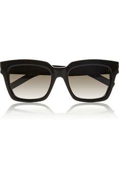 SAINT LAURENT Bold 1 square-frame acetate sunglasses