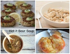Paleo AIP Recipe Roundtable #61! Featured recipes: Salmon Cakes ~ Slow Cooker Chicken & Dumplings ~ Hot + Sour Soup ~ and Honey Lavender Baked Apples.