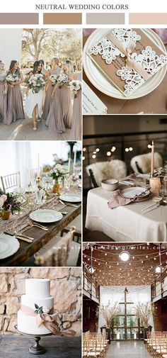 10 Gorgeous Neutral Wedding Color Combos to Inspire Engagement and Hochzeitskleid Hochzeitskleid dark taupe and brown neutral wedding color ideas Engagement and Hochzeitskleid 2019 Champagne Wedding Colors, Taupe Wedding, Neutral Wedding Colors, Wedding Color Schemes, Dream Wedding, Elegant Wedding Invitations, Wedding Themes, Wedding Decorations, Wedding Parties