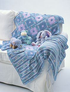 Yarnspirations.com - Bernat Harlequin Blanket (Upper Blanket in Photo) - Patterns    Yarnspirations - (Pattern Downloaded - SLT)