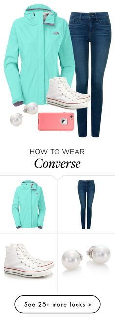 """""""I rly want these converse!!"""" by tessbartoszek on Polyvore featuring NYDJ, The North Face, Converse and Mikimoto"""