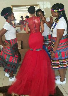 Traditional African Wedding Celebrity weddings 2019 best bells bedfellow dresses south A African Wedding Attire, African Attire, African Wear, African Women, African Beauty, African Print Dresses, African Print Fashion, African Fashion Dresses, African Dress