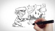 Hand writing. Drawing. Virtual Reality. 2015.