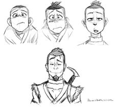 Sokka through the years. You know he was so stoked when he started getting facial hair.