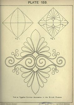 see site for many more - 1895 - Cusack's freehand ornament. A text book with chapters on elements, principles, and methods of freehand drawing, for the general use of teachers and students . by Armstrong, Charles Pattern Art, Pattern Design, Embroidery Patterns, Quilt Patterns, Stencils, Ornament Drawing, Free Motion Quilting, Machine Quilting, Islamic Art
