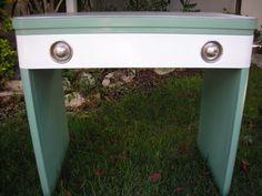 Extremely Rare Norman Bel Geddes Steel Desk. $799.00, via Etsy.