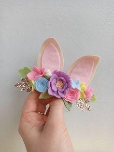 Bunny Ears Headband, Felt Headband, Stretchy Headbands, Newborn Headbands, First Birthday Crown, Baby Flower Crown, Shadow Frame, Rudolph Christmas, Christmas Hair Bows