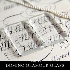 Domino Size clear glass tiles. Clear Glass Tiles for by AnnieHowes, $8.50