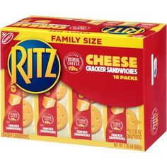 Ritz Cracker Sandwiches with Cheese - Family Size - Ritz Crackers, Costco Appetizers, Ritz Bits, Sandwiches, Creamy Cheese, New Flavour, School Snacks, Easy Snacks, Clean Eating Snacks